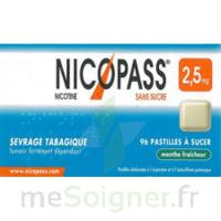Nicopass 2,5 Mg Pastille Menthe Fraîcheur Sans Sucre Plq/36 à Bordeaux