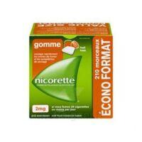 Nicorette 2 Mg Gomme à Mâcher Médicamenteuse Sans Sucre Fruits Plq/210 à Bordeaux